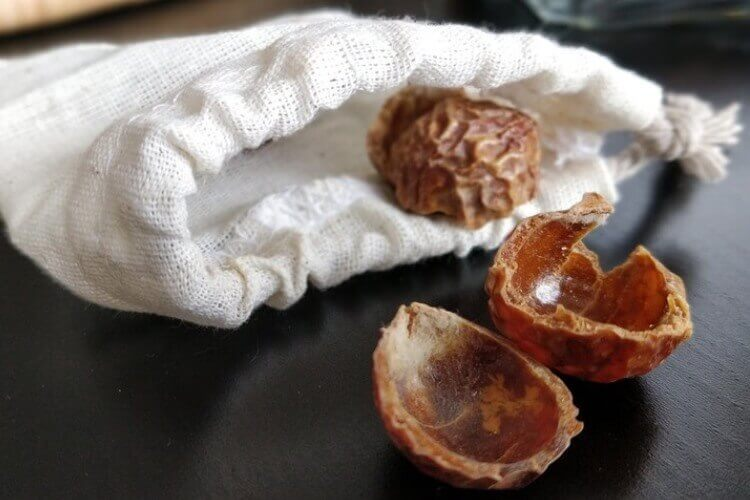 Soapnuts in a breathable white bag