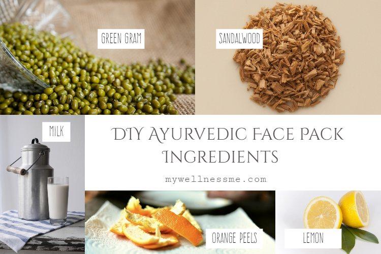 DIY Ayurvedic Face Pack Ingredients